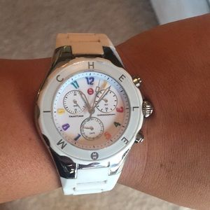 Michele rainbow jelly watch - great condition!